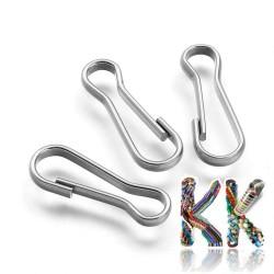 304 Nerezové klíčové karabinky - 20,5 x 7 x 2 mm