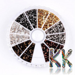 Železný zamačkávací rokajl - trubička - ∅ 2 x 2 mm - cca 1500 ks