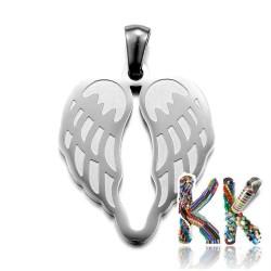 Přívěsek z 304 nerezové ocele - křídla - 26,5 x 22 x 1,5 mm