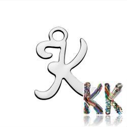 Přívěsek z 304 nerezové ocele - abeceda, písmeno - 10-20 x 7-15 x 1,1 mm