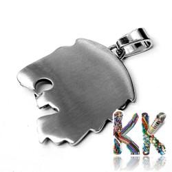 Přívěsek z 316 nerezové ocele - hlava lva - 43 x 38 x 6 mm