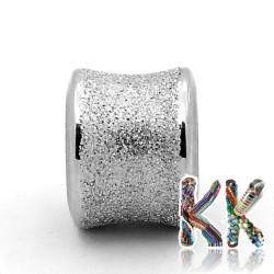 304 Širokoprůvlekový nerezový korálek s hvězdným prachem - trubka- ∅ 9 x 11 mm