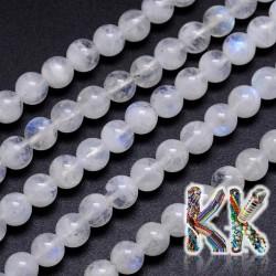Přírodní bílý měsíční kámen - ∅ 6 mm - kulička - kvalita AA