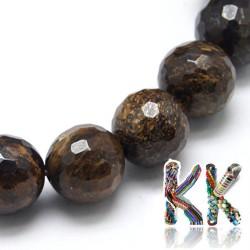 Přírodní bronzit - ∅ 8 mm - fasetovaná kulička