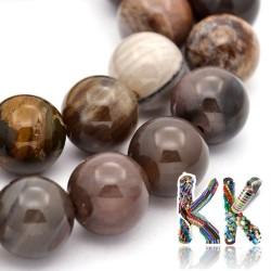 Přírodní zkamenělé dřevo - ∅ 8 mm - kulička