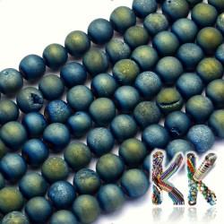 Přírodní pokovené drúzy z achátu - ∅ 8 mm - kulička