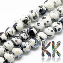 Porcelánové korálky - anticky glazované - ∅ 9 mm - kuličky