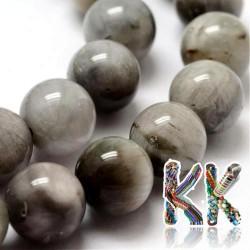 Přírodní šedé sokolí oko - ∅ 10 mm - kulička