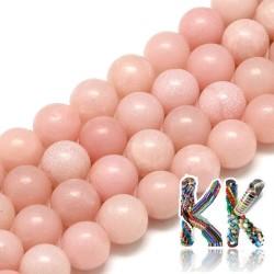 Přírodní růžový opál - ∅ 6 mm - kulička