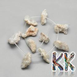 Přírodní pokovené drúzy z achátu - 15-35 x 6-12 mm