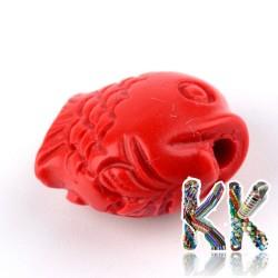 Rumělka - rybka - 13 x 12 x 8 mm