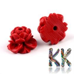 Rumělka - lotos - 9 x 13.5 x 13.5 mm