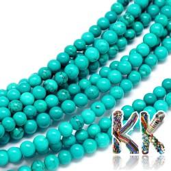 Přírodní modrý sinkiangský tyrkys - ∅ 4 mm - kulička