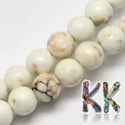 Přírodní bílý tyrkys - ∅ 4 mm - kulička