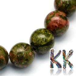 Přírodní unakit - ∅ 10,5 mm - kulička