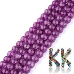 Syntetický křišťál - ∅ 8 mm - jednobarevné kuličky
