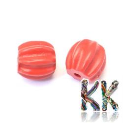 Rumělka - dýně - 9-10 x 9,5 mm