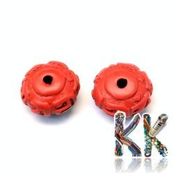 Rumělka - rondelka - 12-13 x 7-8 mm