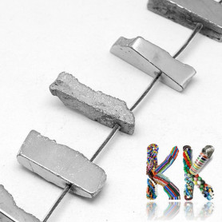 Přírodní pokovené drúzy z křišťálu - 20-36 x 6-15 x 5-10 mm