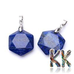 Přírodní lapis lazuli - 28 x 25 x 9 mm - hexagon