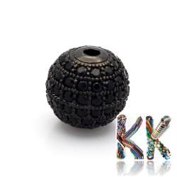 Mosazné oddělovací korálky se zirkony - kuličky - ∅ 6 mm - kvalita AAA