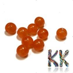 Přírodní karneol - ∅ 8 mm - třídírkatý korálek - kulička