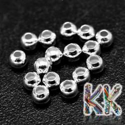 925 stříbro - oddělovací korálek - kulička - ∅ 4 mm