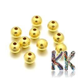 925 stříbro - oddělovací korálek - 24 K zlato - kulička - ∅ 4 mm