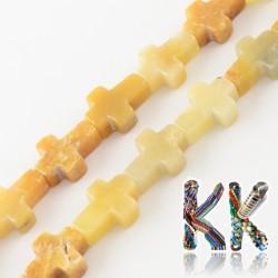Přírodní zlatý topaz - kříž - 16-17 x 12-13 x 4-6 mm