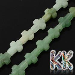 Přírodní zelený avanturín - kříž - 16-17 x 12-13 x 4-6 mm
