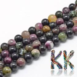 Přírodní vícebarevný turmalín - ∅ 8 mm - kulička