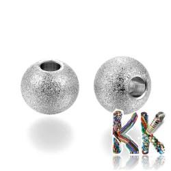 304 Nerezový oddělovací korálek s hvězdným prachem - kulička - ∅ 8 mm