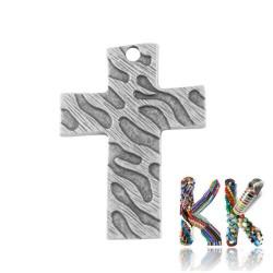 Přívěsek křížek - 31 x 42 x 2 mm