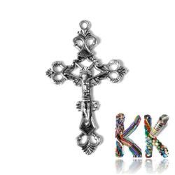 Přívěsek křížek - 26 x 43,5 x 3 mm