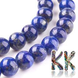 Přírodní lapis lazuli - ∅ 8 mm - kulička - kvalita AA
