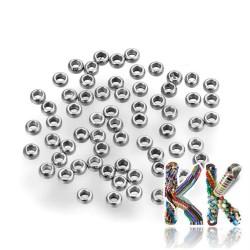 304 nerezový zamačkávací rokajl - ∅ 1,5 x 0,8 mm - množství 1 g (cca 180 ks)