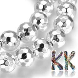 Syntetický pokovený nemag. hematit - ∅ 8 mm - fasetovaná kulička - kvalita AA