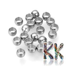 304 nerezový zamačkávací rokajl - ∅ 3 x 2 mm - množství 1 g (cca 30 ks)