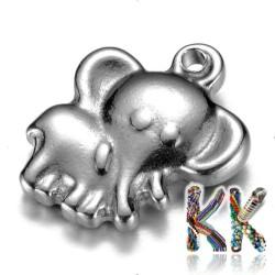 Přívěsek z 304 nerezové ocele - slon - 14 x 12 x 3,5 mm