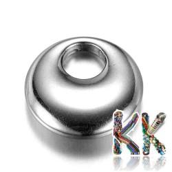Přívěsek z 304 nerezové ocele - kruh s dírou - 14 x 4 mm