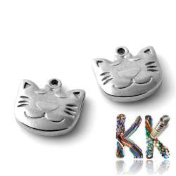 Přívěsek z 304 nerezové ocele - kočka - 14 x 14,5 x 3,5 mm