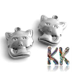 Přívěsek z 304 nerezové ocele - kočka - 16 x 13,5 x 4,5 mm
