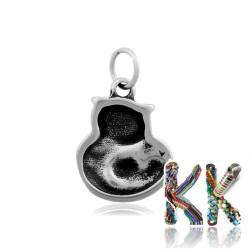 Přívěsek z 316 nerezové ocele - kočka - 20,5 x 16 x 4,5 mm