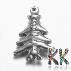 Přívěsek z 304 nerezové ocele - vánoční strom - 20,5 x 14,5 x 3,5 mm