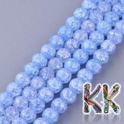 Syntetický praskaný křišťál - ∅ 6 mm - jednobarevné kuličky