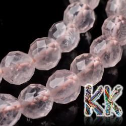 Přírodní růženín - ∅ 8 mm - fasetovaná kulička