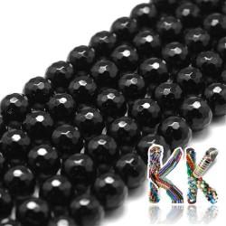 Přírodní onyx - ∅ 8 mm - fasetovaná kulička - kvalita A