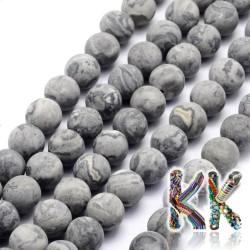 Přírodní zmatnělý krajinový jaspis - ∅ 7,5 - 8 mm - kulička