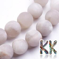 Přírodní bílý zmatnělý bláznivý achát - ∅ 8 - 8,5 mm - kulička