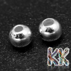 Oddělovací korálek z ryzího stříbra (925 Ag) - kulička - ∅ 6 mm